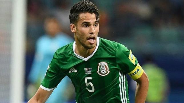 Diego Reyes, con la selección de México
