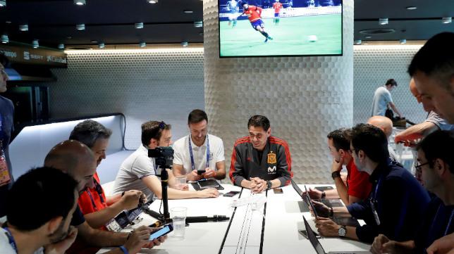 Hierro participó este lunes en un encuentro con la prensa en Krasnodar