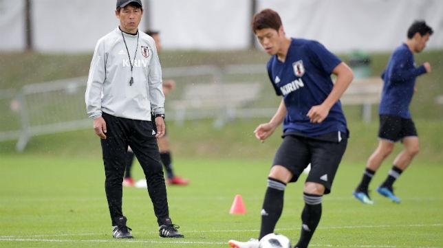 Hiroki Sakai, en un entrenamiento de la selección de Japón (Reuters)