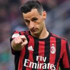 Kalinic, en un partido con el Milan. Foto: AFP