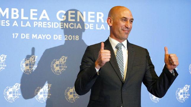 Luis Rubiales, presidente de la Real Federación Española de Fútbol