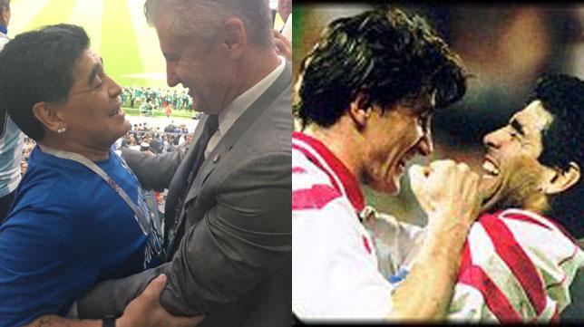 Suker y Maradona, en su reencuentro en el Mundial de Rusia y en su etapa en el Sevilla