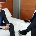 Javier Tebas y Luis Rubiales, durante su encuentro del pasado 1 de junio (Foto: EFE)