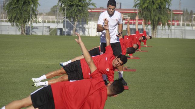 Borja Lasso, durante un entrenamiento (foto: Rocío Ruz)