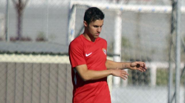 Corchia, durante un entrenamiento (foto: Rocío Ruz)