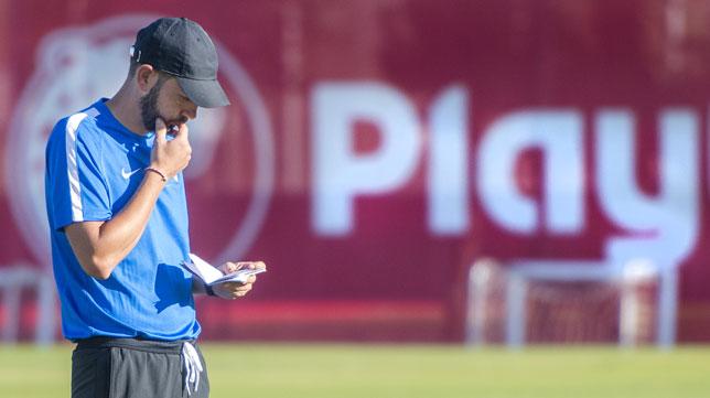 Pablo Machín, en la ciudad deportiva (foto: Juan José Úbeda)