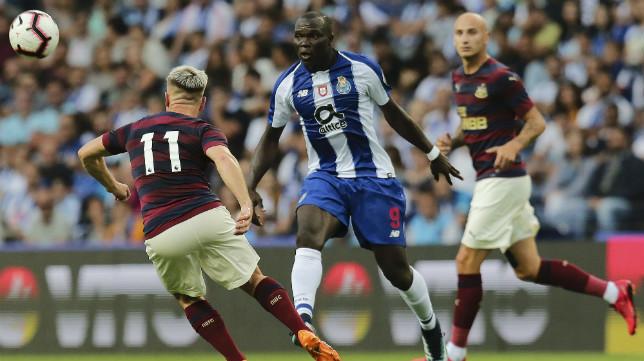 Vincent Aboubakar, en un partido amistoso con el Oporto ante el Newcastle, esta pretemporada