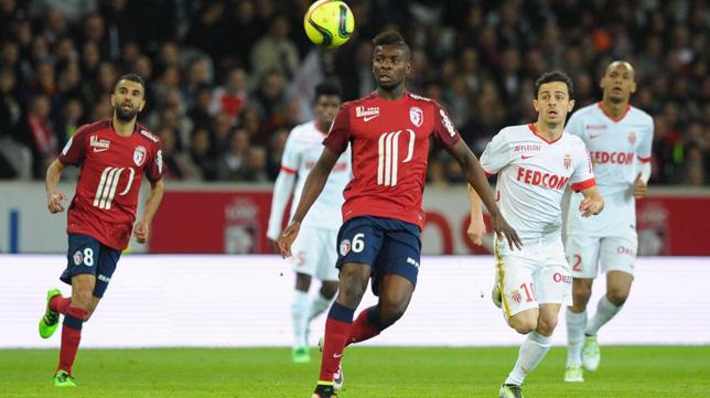 Ibrahim Amadou, en un Lille-Mónaco