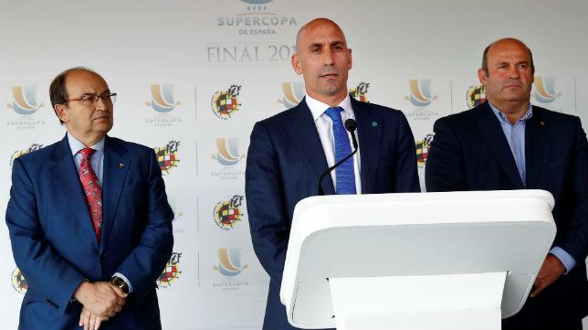 José Castro y Luis Rubiales, en la Federación Española (EFE)