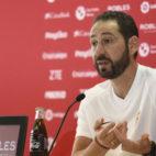 Pablo Machín, en rueda de prensa (foto: SFC)