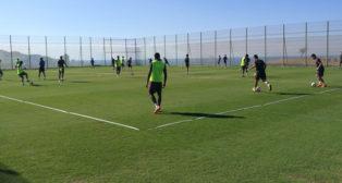 Entrenamiento matinal del Sevilla FC del lunes 16 de julio en Benidorm