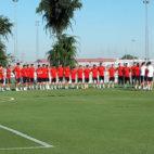 Primer entrenamiento de pretemporada para el Sevilla FC