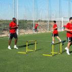 Amadou, hoy en la ciudad deportiva del Sevilla FC