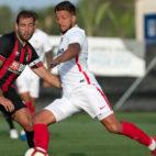 Carriço, en un lance del amistoso entre el Sevilla FC y el Bournemouth (foto: LOF)
