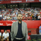 Pablo Machín, en el Sevilla-Ujpest (J. M. Serrano)