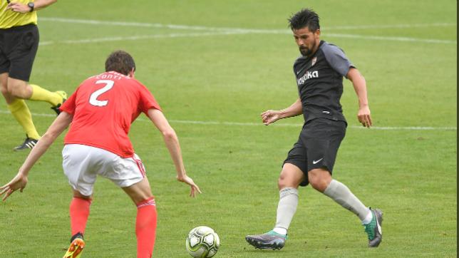 Nolito, en el amistoso ante el Benfica (SFC)