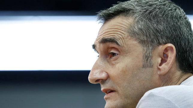 Ernesto Valverde, en la rueda de prensa previa a la disputa de la Supercopa ante el Sevilla (foto: EFE/ Andreu Dalmau)