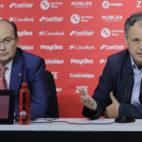 José Castro y Joaquín Caparrós, durante la presentación de Gonalons (foto: Raúl Doblado)
