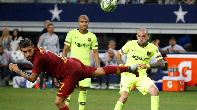 Aleix Vidal, en el encuentro de la International Champions Cup del Barcelona ante la Roma (MD)