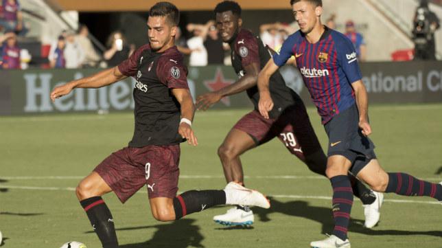André Silva, en el Barcelona-Milan de pretemporada