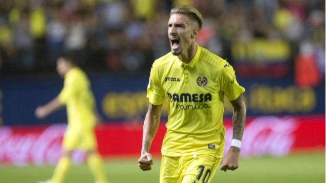 Samu Castillejo celebra un gol con el Villarreal (EFE)