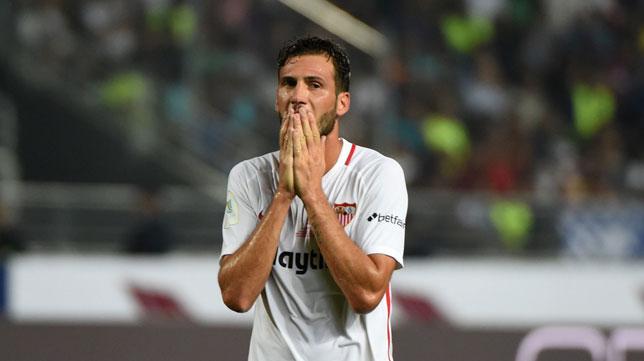 Vázquez se lamenta tras una ocasión (Foto: AFP).