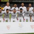 El once del Sevilla en la Supercopa ante el Barcelona (Foto: Reuters).