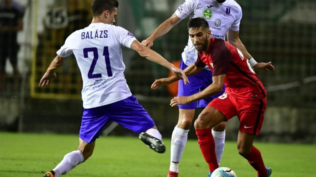 Pejiño, en el encuentro de la Q2 de la Europa League entre el Sevilla y el Újpest