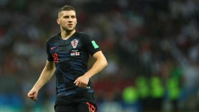 Ante Rebic, en un encuentro con Croacia en el Mundial de Rusia