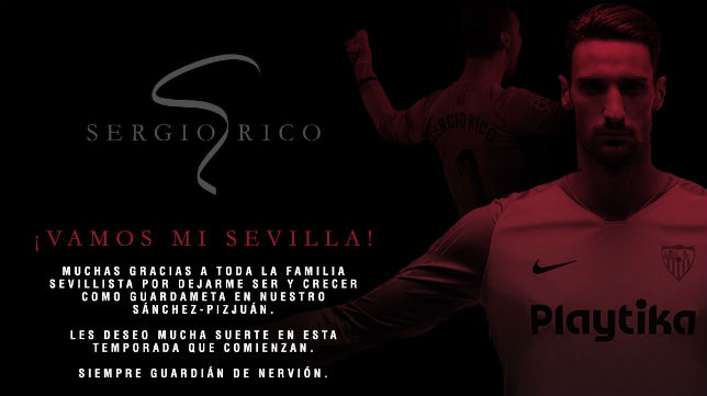 Carta de despedida de Sergio Rico