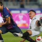 Roque Mesa y Messi, durante la final de la Supercopa de España