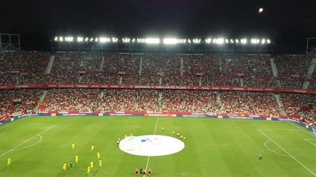 Imagen del Sánchez-Pizjuán antes del Sevilla-Villarreal