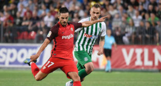 Pablo Sarabia, durante el Zalgiris-Sevilla de la Q3 de la Europa League