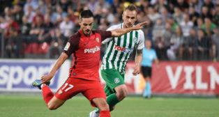 Pablo Sarabia, durante el Zalgiris-Sevilla de la Q3 de la Europa League