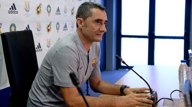 Ernesto Valverde, entrenador del FC Barcelona (Foto: AFP).