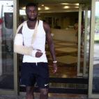 Amadou sale del hospital. Foto: SFC