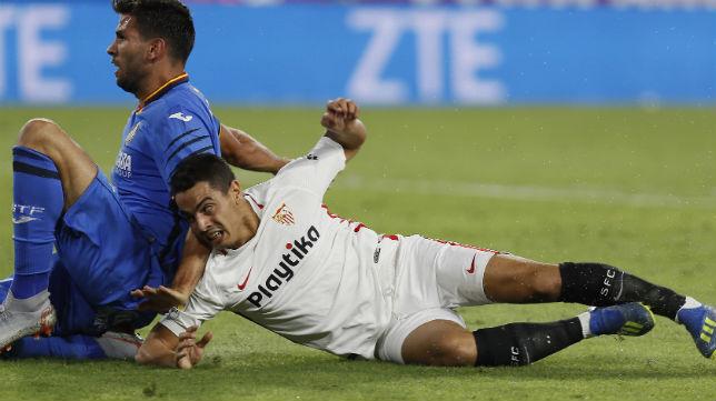 El jugador del Sevilla FC Ben Yedder ante el Getafe (Foto: EFE)