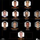Equipo de la semana de la primera jornada de la Europa League, con Banega y Ben Yedder