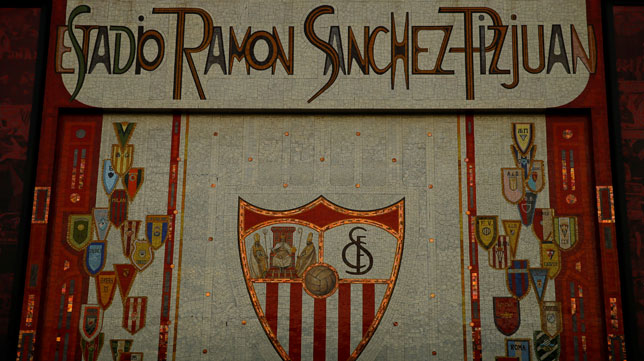 Imagen del mosaico del Ramón Sánchez-Pizjuán