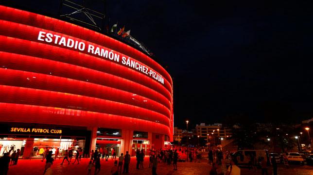 El exterior del Ramón Sánchez-Pizjuán
