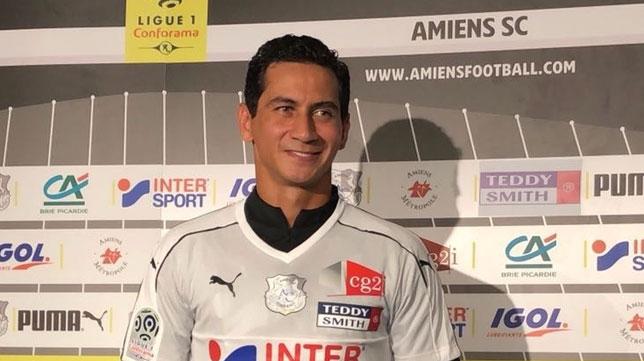 Paulo Henrique Ganso en su presentación como jugador del Amiens