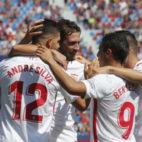 André Silva, Franco Vázquez, Ben Yedder y Sarabia, en el Levante-Sevilla (LaLiga)
