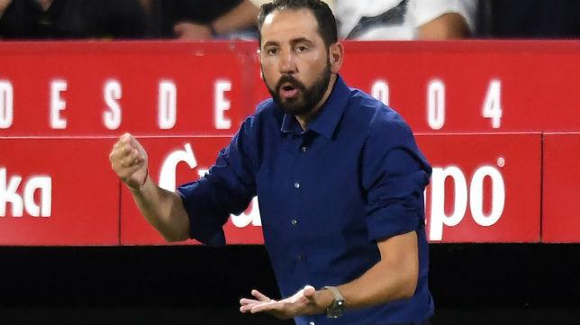 Pablo Machín confía en que sus jugadores lo den todo ante el Huesca