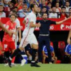 Pablo Machín, durante el Sevilla-Real Madrid