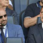 Monchi y Totti, juntos en un partido de la Roma