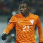Quincy Promes, en un encuentro con la selección holandesa