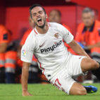 Sarabia se queja de un golpe en el Sevilla-Getafe
