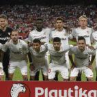 Once del Sevilla FC ante el Getafe. Foto: LaLiga