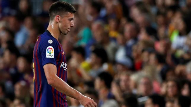 Lenglet fue expulsado en el Barça-Girona (REUTERS)