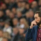 Pablo Machín, en el Krasnodar-Sevilla (AFP)